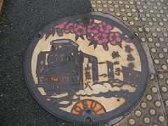 湯田温泉のマンホール