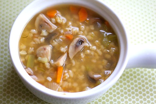 Mushroom Barley Soup Recipe is an easy and healthy vegetarian soup!