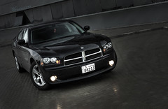 BLACK DODGE CHARGER 2010 Explored !! (mr.alsultan) Tags: winter light black car rain sport speed canon eos mohammed dodge kuwait charger 2010 xsi freezone 450d alsultan mralsultan