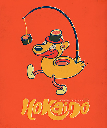 Hokaido Industrial Sushi co. (Fake Japanese Ad Characters Set)