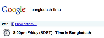 Google: Time in Bangladesh