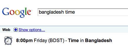 Google: Time in Bangladesh