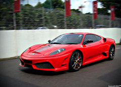 F430 Scuderia. (Amruth360) Tags: auto horses horse motion black cars tourism sports mobile contrast race speed drag photography lights hp automobile singapore power euro framed extreme creative stripe fast convertible automotive super ferrari headlights racing clear explore exotic turbo showroom hood hyper pan autos panning quick limited edition viva ultra rare scuderia clearly coup exhaust attraction exotica drift exotics f430 supercars vroom prancing automobili charged revive swiftly revving litalia 16m explored hypercar hypercars litalian