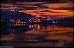 Sunset at the Golden Horn (a.Kry) Tags: sunset sky water night clouds turkey gulf istanbul hdr goldenhorn