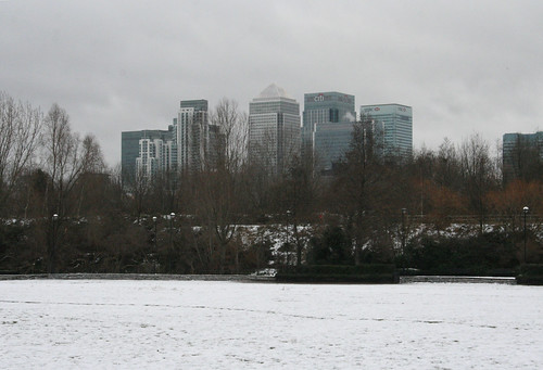 Canary Wharf from Mudchute Park