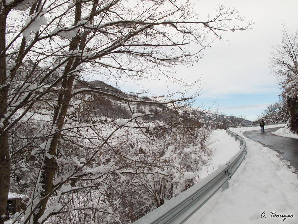 Carretera de Sotiello a Carraluz
