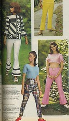 1966 Spiegel catalog Op top, bell bottoms, madras, gingham (genibee) Tags: pink woman white black fashion vintage mod pants spiegel madras 1966 gingham crop catalog op 1960s catalogue sixties opart bellbottoms