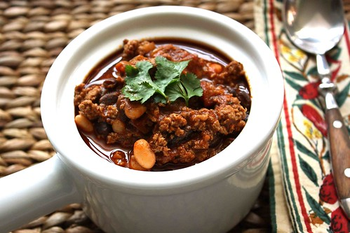 Smoky Turkey Chili Recipe With Chipotle Peppers Black White Beans