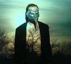 shy guy (redjoe) Tags: nyc newyorkcity light man hot cold color beautiful wall night mask manhattan picture redjoe antonkawasaki sionfullana joehorvath
