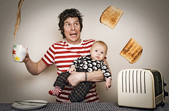 breakfast with fred... (pliggy) Tags: baby coffee breakfast daddy dad toaster tea toast son explore fred frontpage mayhem househusband pliggy needmorehands