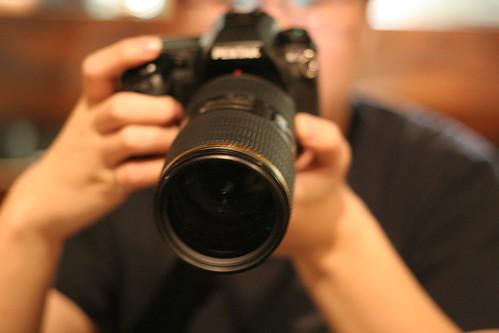 Jerry holding pentax camera