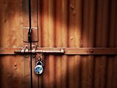 The Door (Anant N S) Tags: door lomo lock garage effect pune dehradun instantfav