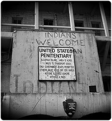 """""""It's just the same in here as being in your grave - only you miss the fun of being dead"""". (GagneDouze) Tags: sanfrancisco california old blackandwhite bw lighthouse northerncalifornia movie island escape tourists nativeamerican prison jail alcatraz sanfranciscobay therock nationalparkservice cells alcapone attraction alcatrazisland federalprison birdman"""