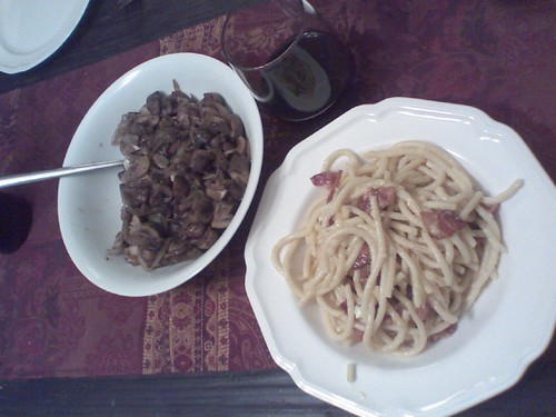 Pasta, Mushroom and Wine