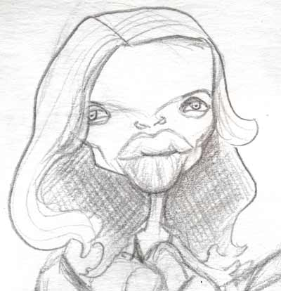 Caricature Sketchbook Melanie Theirry from Babylon A.D.