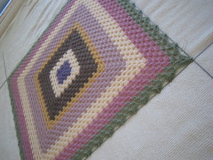 Mohair Granny square Blanket