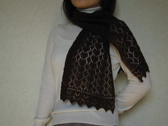 Peacock Tail and Leaf Scarf