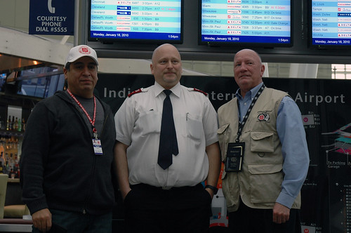 Captain Marcos Ramirez, Captain Jeff Crowell, and Jerry Larsen of the Indianapolis Salvation Army will be in Haiti for 2 weeks.