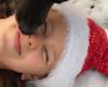 out - take (nosha) Tags: santa christmas xmas winter red portrait usa dog pets white snow black hat nikon kiss december outdoor nj cq f56 headshots 2009 beau lightroom individuals 105mm 105mmf28 blackmagic nikond200 nosha 180sec 0ev 180secatf56