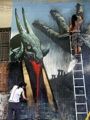 CAMINO HACIA EL SABBATH 3 (emy mariani) Tags: streetart mural arte satan graffitti emy sabbath pintura mariani