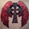 old celtic cross (Billy Whaley Tattoo) Tags: new red irish white black tattoo ink grey back wings cross kentucky badass indiana albany billy louisville nordic celtic custom ideas asgard whaley