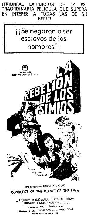 la rebelion de los simios