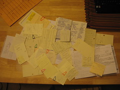 My pile of 'to do' notes (I need a hobby) Tags: lost organize cause