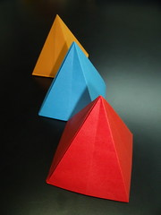 Origami pyramid (Mammaoca2008) Tags: paper origami pyramid carta kawasaki piramide toshikazukawasaki