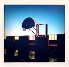 Hyde Park Hoops (Willbryantplz) Tags: basketball austin polaroid goal texas hydepark bball hoops rim iphone willbryantplz shakeitphoto