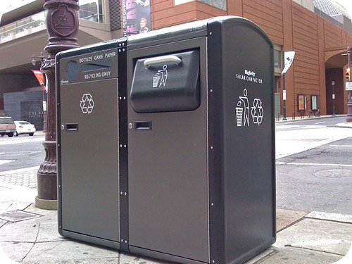 Smart Trash Cans with a Small Footprint -
