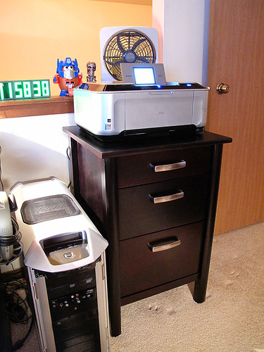 New printer & file cabinet :)