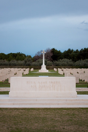 Canadian war cemetery in Ortona
