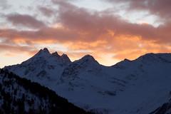 Fire sunset (HoneyJar) Tags: sunset red italy mountain alps bormio canon500d