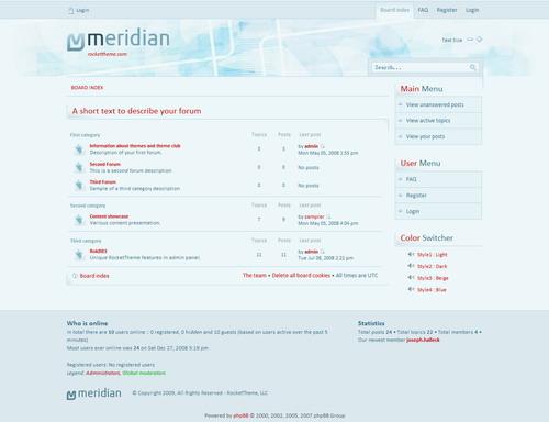 Meridian – RocketTheme phpBB3 Style