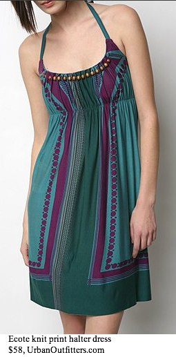 Ecote Knit Print Halter Dress