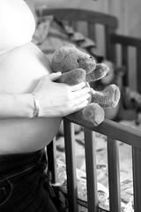 anticipation (jess hughes) Tags: bear baby love mom toy infant waiting teddy nursery birth mother pregnancy pregnant maternity newborn anticipation motherhood jessicahughesphotography