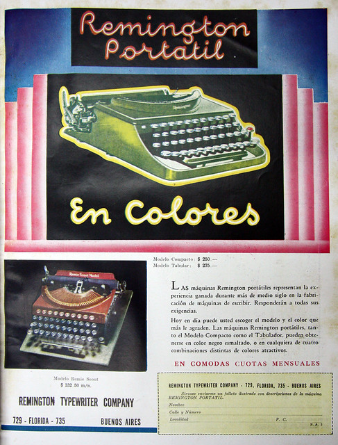 Remington portable typewriter ad