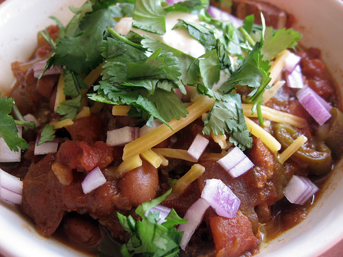 Slow cooked pork chili