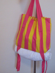 Sacola de Praia (comofaz) Tags: praia beach bag craft towel piscina purse porta toalha bolsa tote tutorial pap tecido costura sacola passoapasso comofaz