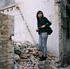 Behind the Scene (mb17chung) Tags: guangzhou china old urban building slr 120 6x6 film girl square construction kodak destruction demolition bronica medium format waste sq portra f28 中國 廣州 80mm redevelopment 160nc sqai zenzanon