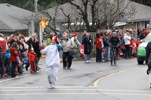 Olympic Torch in Lynn Valley, North Vancouver B.C. Feb 10 2010 -4