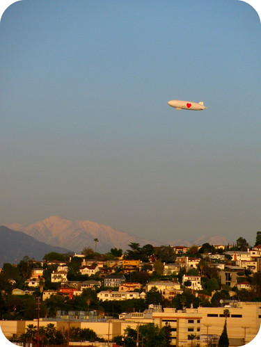 BLIMP OVER L.A.!