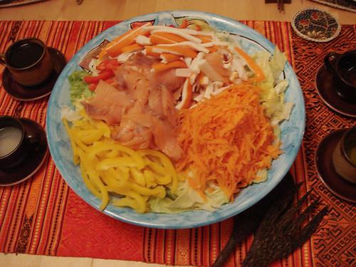 13.Feb.10 Smoked salmon salad