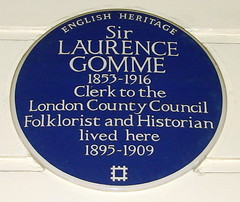 Photo of Laurence Gomme blue plaque