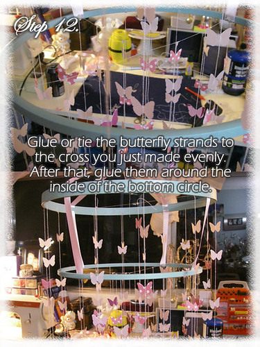 Step 12 (Tutorial- How to make a Chandelier Style Butterfly Mobile)