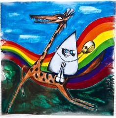 Contest Grammatica delle Figure 2009/ 30ennale G.Rodari (|e|m|y|) Tags: colors acrylic colore bologna crayon arcobaleno giraffa lupo giannirodari concorso cappuccettorosso pastelli asbagliarelestorie tomissthestories contestgrammaticadellefigure
