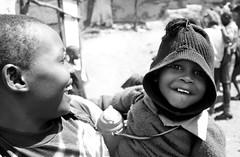 Kenyan Warmth (Jorun Eikill Veflen) Tags: bw smile kenya nairobi slum mathare