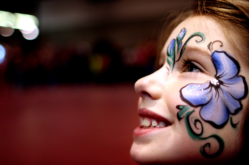 Face paint at SIBS Weekend