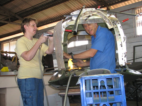 AHSNT B25 Tailcone Under Construction March 2007