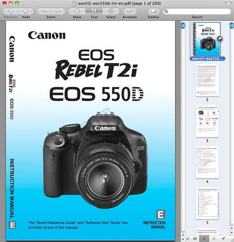 Canon t2i / 550d / kiss x4 manual now available for download.